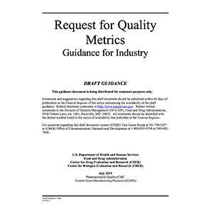 Quality-metrics-draft-guidance