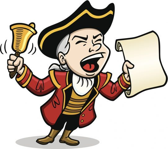 Town Crier Yelling Message