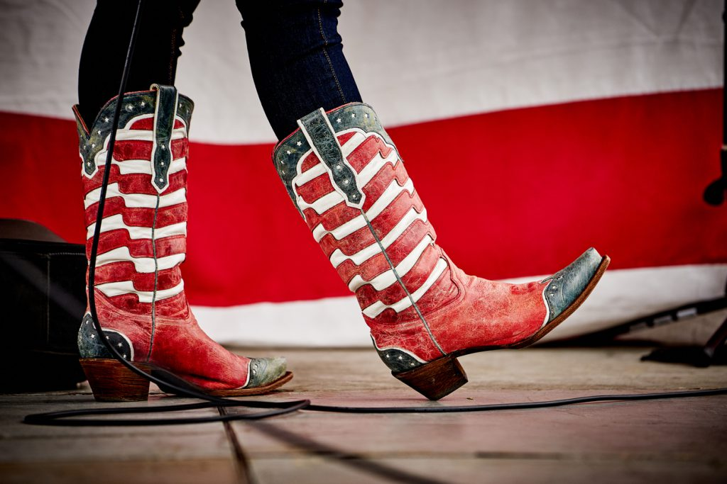 Patiotic cowboy boots