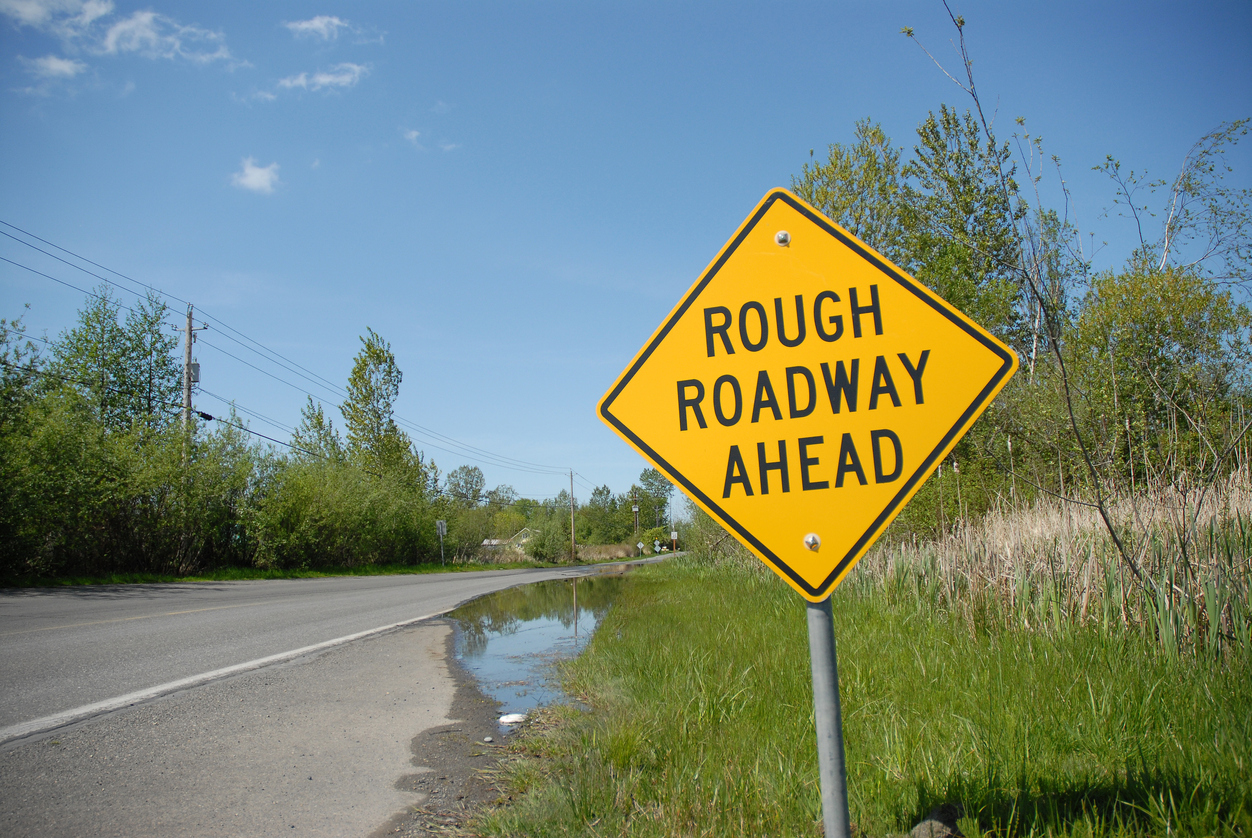 Rough roadway